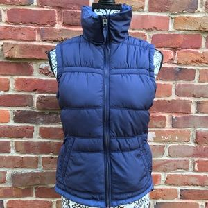 AMERICAN EAGLE OUTFITTERS Womens Navy Puffer Vest